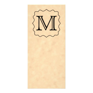 Your Letter. Custom Monogram. Black & Parchment Rack Card