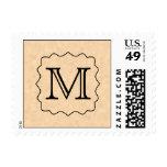 Your Letter. Custom Monogram. Black & Parchment Stamp