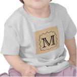 Your Letter. Custom Monogram. Black & Parchment Shirt