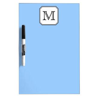 Your Letter. Custom Monogram. Blue Black White. Dry-Erase Board