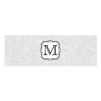 Your Letter. Custom Monogram. Gray, Black & White Mini Business Card