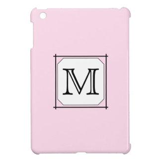 Your Letter. Custom Monogram. Pink Black White. Cover For The iPad Mini