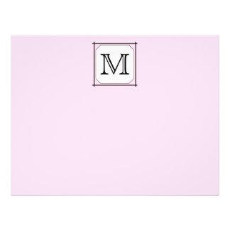Your Letter. Custom Monogram. Pink Black White Flyer Design