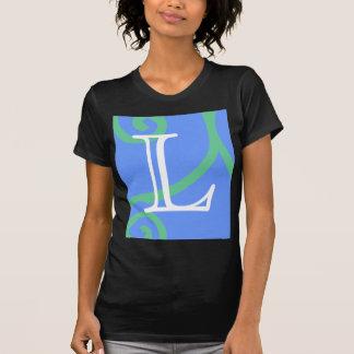 Your Letter. Custom. Multi-color Swirl Monogram. Tshirt
