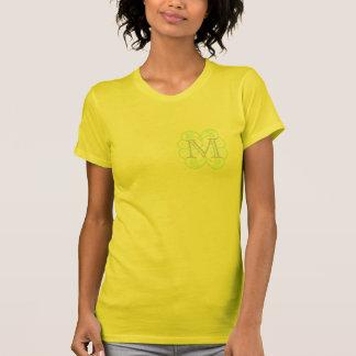 Your Letter. Custom Multi-pastel Swirl Monogram. T-shirt