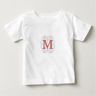 Your Letter. Custom Red Swirl Monogram. Tees