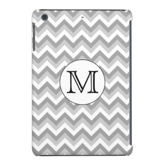 Your Letter. Gray Zigzag Pattern Monogram. iPad Mini Cases