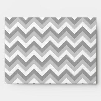 Your Letter. Gray Zigzag Pattern Monogram. Envelope