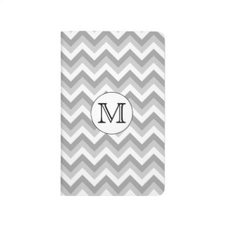Your Letter. Gray Zigzag Pattern Monogram. Journal
