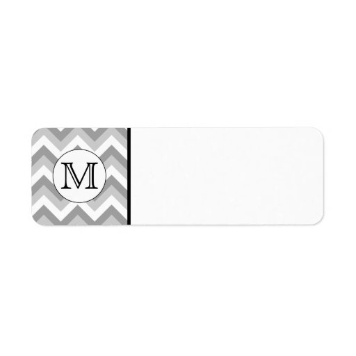 Your Letter. Gray Zigzag Pattern Monogram. Labels