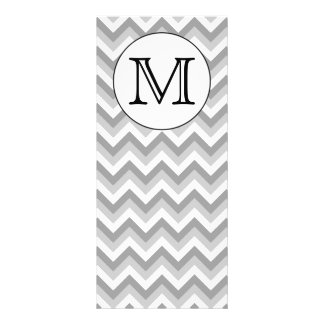 Your Letter. Gray Zigzag Pattern Monogram. Rack Card