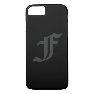 Your Letter Masculine Gray and Black Design iPhone 7 Case