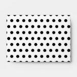 Your Letter Monogram. Black and White Polka Dots. Envelope