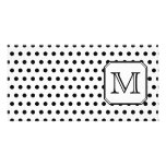 Your Letter Monogram. Black and White Polka Dots. Photo Greeting Card