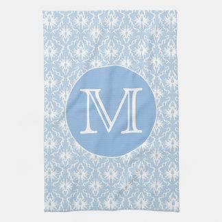 Pale Blue Damask Pattern. Kitchen Towel