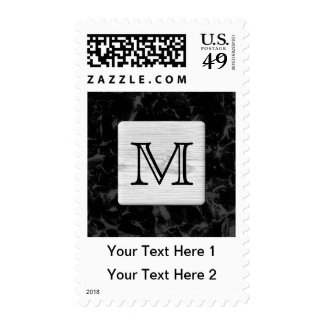Your Letter. Picture of Wood on Black Pattern. Postage Stamps