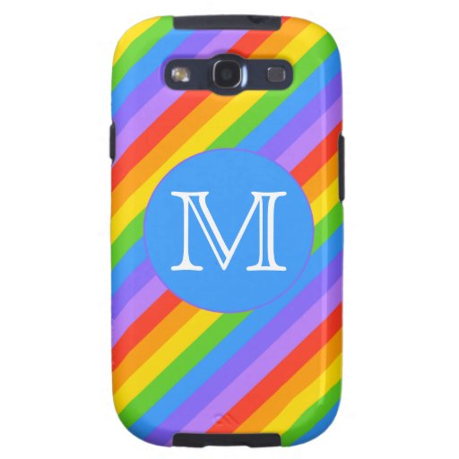 Your Letter, Rainbow Stripes Monogram. Galaxy SIII Cover