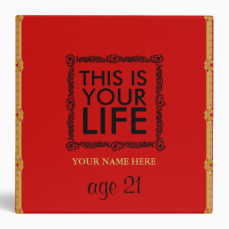 YOUR LIFE AGE 21 YEARS  PHOTO BINDER