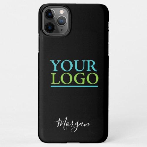 Your Logo/Art/Photo, Business Name Promo, Black Phone Case