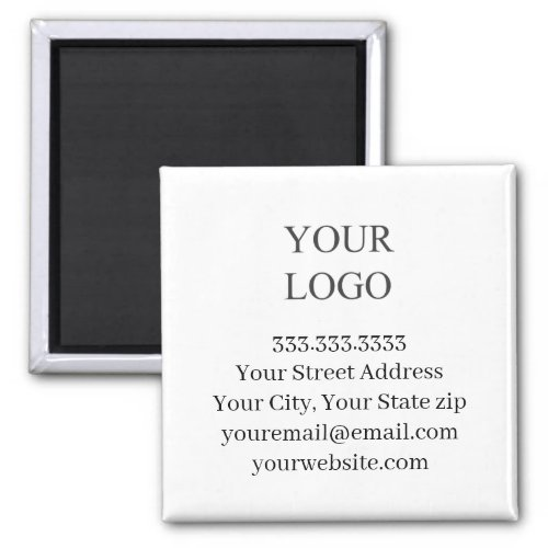 Your Logo Business  Magnet