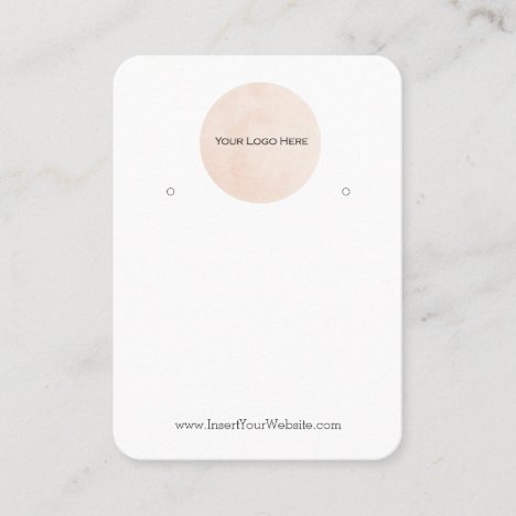 Your Logo Earring Display Card Large Vertical