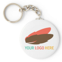 Your logo here business promotional flair giveaway basic round button keychain