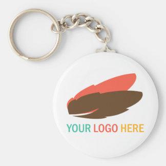 Your logo here business promotional flair giveaway keychain