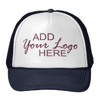 Your logo here cap trucker hat
