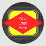 Your Logo Here Classic Round Sticker