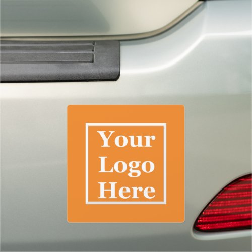 Your Logo Here on an Orange Car Magnet