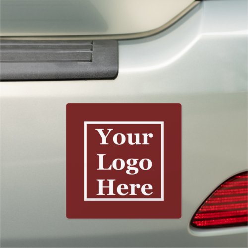 Your Logo Here on Dark Red Car Magnet