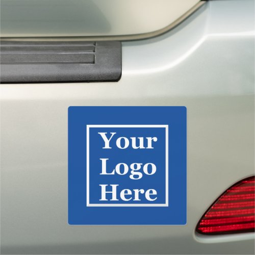 Your Logo Here on Deep Blue Car Magnet