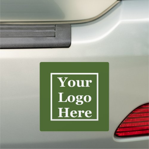 Your Logo Here on Forest Green Car Magnet