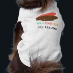 """Your logo here pet business promotional marketing tee<br><div class=""""desc"""">Getting a special pet shirt with your company logo is just a few clicks away. Simply upload your business logo and customize the text and you are good to go. Give as gifts to star clients&#39; pets or employees&#39; pets. Make lasting impression and look established at pet trade shows and...</div>"""