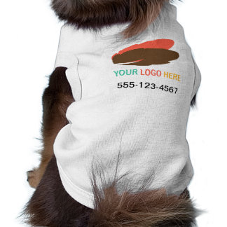 Your logo here pet business promotional marketing tee