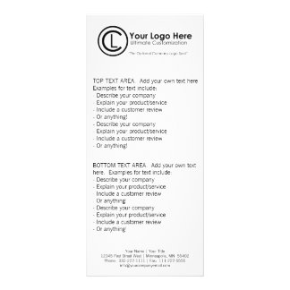 Your Logo Here Simple & Custom Hand-Out Rack Cards
