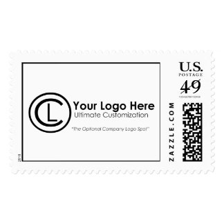 Your Logo Here Simple & Custom Postage Stamp