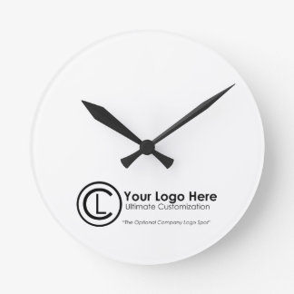 Your Logo Here Simple Custom Promo Wall Clock