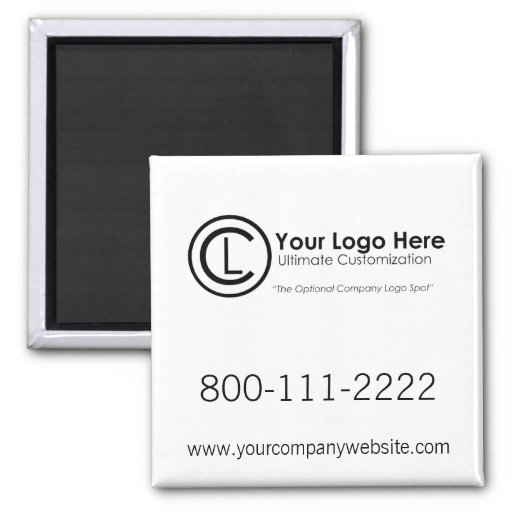 Your Logo Here Simple & Custom Promotional Magnet Refrigerator Magnets