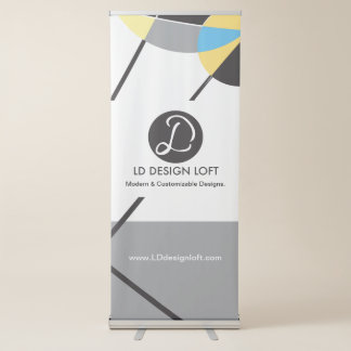 Your Logo Here, simple, Customizable TEMPLATE Retractable Banner