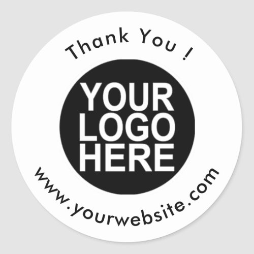 Your Logo Name  Website Promo Classic Round Classic Round Sticker