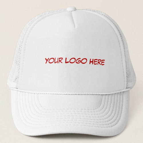 Your Logo on White Cap