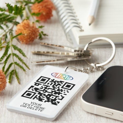 Your Logo  QR Code Business Promotional Marketing Keychain