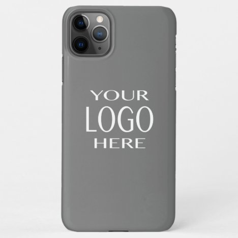Your Logo | Simple Logo Replacement/Grey iPhone 11 iPhone 11Pro Max Case