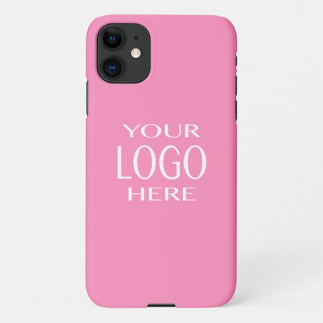 Your Logo | Simple Logo Replacement/Pink iPhone 11 Case