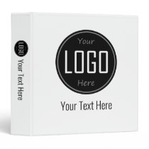 Your Logo & Text Fully and Easily Customizable 3 Ring Binder
