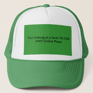 Your looking at a Level 70 COD MW2 Online Player Trucker Hat