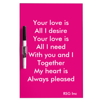 Your love Dry-Erase board