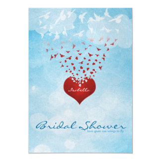 Your Love Gives Me Wings Bridal Shower Card