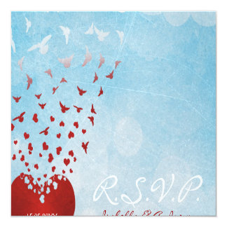 Your Love Gives Me Wings Wedding RSVP Card